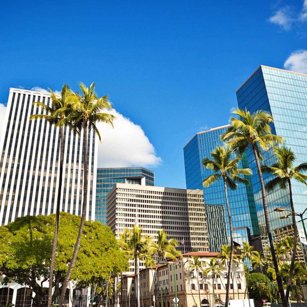 Office buildings in Honolulu
